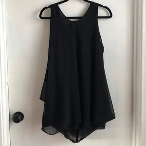 Black Ya Los Angeles long tank top— flowy